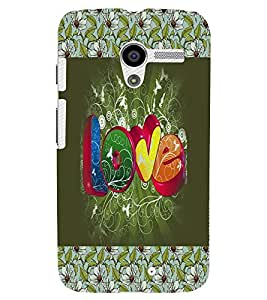 FUSON 3D Designer Back Case Cover for MOTOX D10120