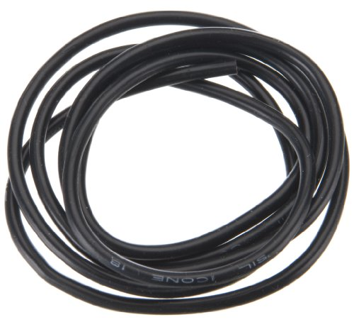 Muchmore Racing MRWK18 18 AWG Silver Wire, Black, 90cm - 1
