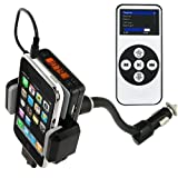ALLKIT FM Transmitter w/ Wireless Remote Control for iPhone 2G / 3G / 3GS /iPod/ iPod Touch, iPod Nano, Shuffle, or MP3 Music Players  – Connect Your Portable Audio Device to the Car Stereo!