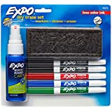 Expo Low-Odor Dry Erase Set, Fine Point, 7-Piece with Cleaner, Assorted Colors