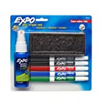 Expo 2 Low-Odor Dry Erase Set, Fine P...