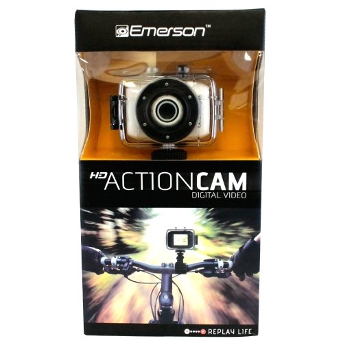 Emerson Go Action Cam 720p HD Digital Video Camera Pro Grade 5 mp Video With Screen WHITE