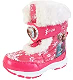 Disney Frozen Elsa Anna Forever Girl's Light Up Winter Warm Pink Snow Boots Shoes (Toddler/Youth)