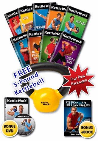 Kettleworx Ultra 10 DVD Set + Free 5lb Kettlbell