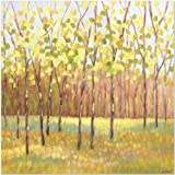 SMART ART - 'Yellow and Green Trees (center)' by Libby Smart - Fine Art Print 12x12 inches
