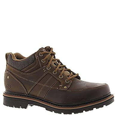 Skechers Relaxed Fit Marcelo Topel Mens Lace Up Boots | Amazon.com
