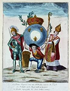 Photo france globe noblesse et le clerg aide au premier trois ordres for Poster revolution france