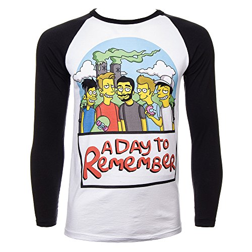 Maglietta A Maniche Lunghe A Day To Remember Simpsons (Multicolore) - Large