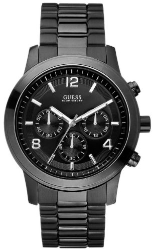 GUESS Men's U15061G1 Black Ionic Plated Chronograph Watch