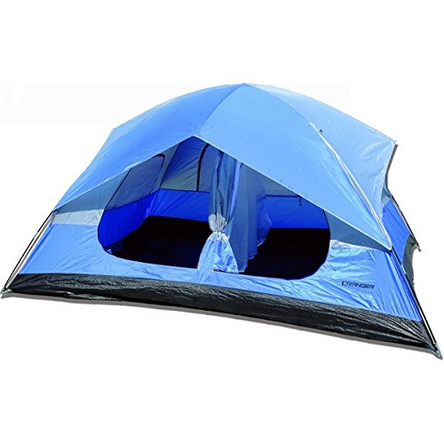 """Ranger 2 Person Tent (TN001). Outdoor 4 Season Tent. Best Use: Travel & Car Camping. Vented Cool-Air Port. Privacy Vent Window.144"""" H X 120"""" W X 70.9"""" D"""