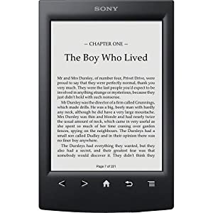 "Sony PRS-T2 6"" Touchscreen Digital eBook Reader w/E-Ink Technology, Built-in Wi-Fi & microSD Card Slot (Black)"