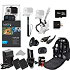 GoPro HERO3+ Black Edition Camera (CHDHX-302) + Action Pro Series All In 1 Outdoors Kit Designed for flat surface - helmet biking, skydiving, surfing, horsebackriding, freerunning, motorcross, atv, jetski, snowboarding, skiing, mountain climbing, first person recording, hunting paintball, airsoft + Extra Necessary Accessories