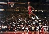 Michael Jordan Famous Foul Line Dunk Vintage Sports Poster Print - 24x36