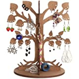 "Best Gift For Girlfriend / Wooden Ecological Jewellery Tree / Earring Holder / Earring Tree / Jewellery Stand / Jewellery Display ""Leafy Dream""(Brown)"