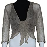 LADIES PLAIN KNIT CROPPED SHRUG / BOLERO TOP - SEE MASSIVE RANGE OF COLOURS