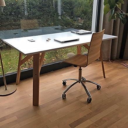 lounge-zone Marca Scrivania ERIK bianco Gambe del tavolo Legno massello legno Faggio Na