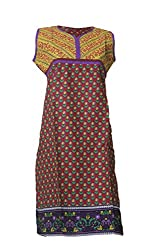 Tulip Collections Women's Cotton Kurti, Red_M