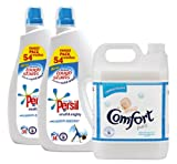 Persil Small & Mighty Non Bio 2 x 54 Wash + Concentrate Comfort Pure Fabric Conditioner 5L