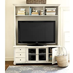 Amazon.com - Vetrina Media 60 inch Console with Hutch - Ballard