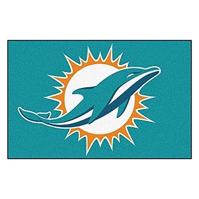 FANMATS NFL Miami Dolphins Nylon Face Starter Rug