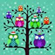 Hospice of St Francis Charity Christmas Cards - Owls - Pack of 10 - 100% Donation