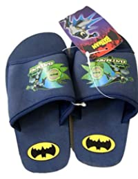 Navy Blue Digital Batman Foam Sole Sandal (Size 13/1)
