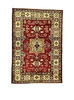 L'EDEN DEL TAPPETO Alfombra Uzebekistan Rojo/Crema/Verde 101 x 146 cm