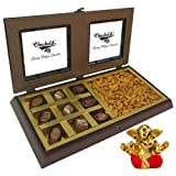 Chocholik Premium Gifts - Almond Surprise With Melting Moment With Small Ganesha Idol - Diwali Gifts