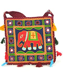 Red Womens Cross Body Bag  Beautiful Tote Beach & Shopper Bag  Canvas Travel Bag