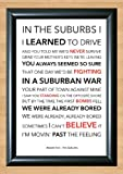 Arcade Fire 'The Suburbs' Lyrical Song Print Poster Art A4 Size (Typography)
