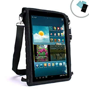 USA Gear FlexARMOR X Tablet Cover Carrying Case with Touch Capacitive Screen Protector and Adjustable Messenger Shoulder Strap for Archos 101 , 97 Titanium / 101 XS / 97 Carbon / Arnova Childpad & More