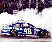 'AUTOGRAPHED 2013 Jimmie Johnson #48 Lowe''s Racing DAYTONA 500 WIN (Burnout) Signed 8X10 NASCAR Glossy Photo w/ COA'