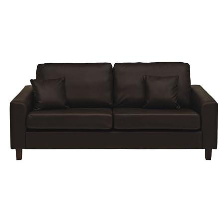 Sabichi Richmond 3-Sitzer-Sofa Braun Faux Leder Weich Lounge Möbel sc00005F