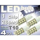 28連 x SMD4個セット 1210 ハイパワーLED ポジション、ナンバー灯(021)【Rizオリジナル】