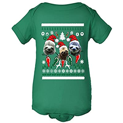 Baby One Piece: Ugly Sloth Christmas Sweater Bodysuit