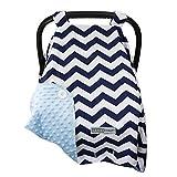 # 1-Nueva versión más grande silla Canopy Cover, by Crazzie (grande, tiempo fresco Zigzag azul marino/azul) 100% GARANTIZADO