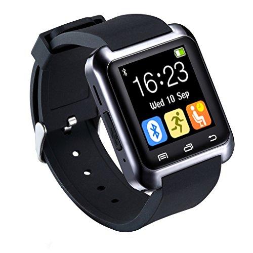 U80 Bluethooth 3.0 Smartwatches mit Kamera 1,5 LCD-Display Wasserdicht IP57 Handy/Uhr/Mediaplayer