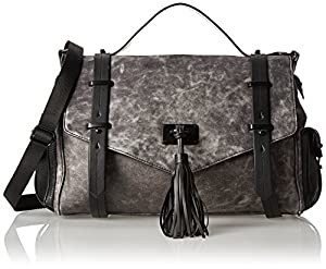 L.A.M.B. Ellery Shoulder Bag,Grey,One Size