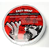 """Motorcycle Exhaust Header Wrap Roll White Pipe Heat Tape 2"""" Wide 50' Long"""