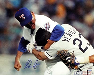 Nolan Ryan Signed Autographed Texas Rangers 16x20 Photo - Ventura Fight TRISTAR COA