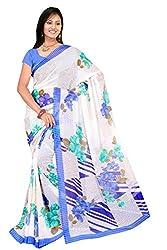 Latest Designer Chiffon Multi Color Printed Saree for Women By Maahi Fashion