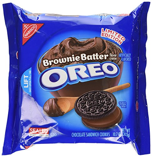 Nabisco Oreo Brownie Batter Creme Chocolate Sandwich Cookies, 10.7 oz(1 Pack) (Limited Edition)