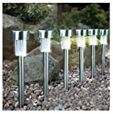 20 Stainless Steel Garden Solar Powered Post Lights