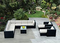 Big Sale Genuine Ohana Outdoor Patio Sofa Sectional Wicker Furniture 12pc Couch Set with Free Patio Cover
