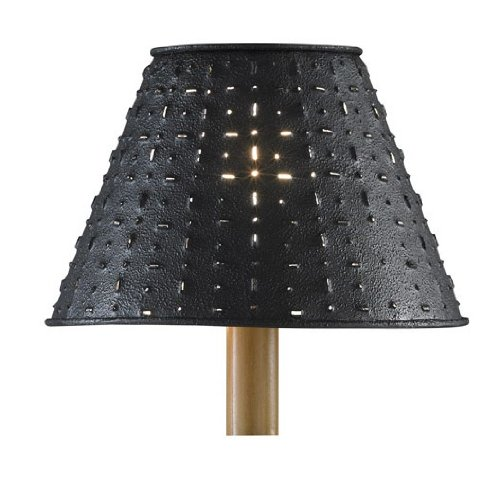 "Metal Dot Dash Black 14"" Shade"