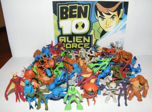 Ben 10 Alien Force Mega Set Playset of 50 Alien Toy Figures Party Favors with Bonus Ben 10 Figure and Wristband! (Ben 10 Alien Force Figure compare prices)