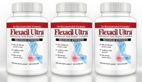 Flexacil ultra 3 bottles 60 caps each the most for Fish oil joint pain