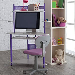 Kids Study Tower With Chair - Purple Color-size - Child - Purple from Calico Designs Inc