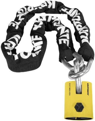 Kryptonite New York Legend Chain 1515 - 5 Ft./Black/White/Yellow