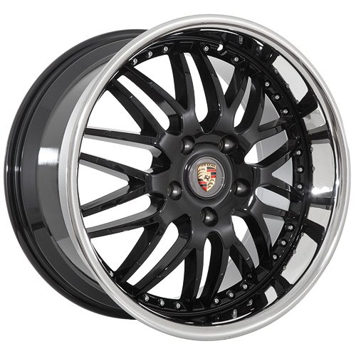 19 Inch Porsche Wheels Rims Black (set of 4)